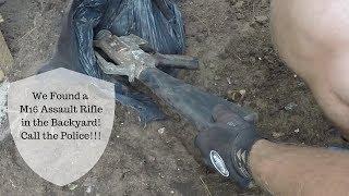 Treasure Hunter Finds Assault Rifle Buried in Own Backyard