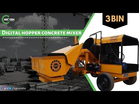 DIGITAL HOPPER CONCRETE MIXER (3 BIN)
