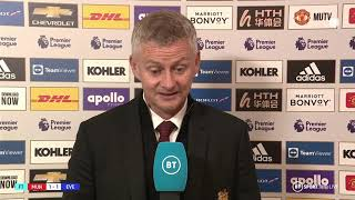 Ole Gunnar Solskjaer reacts to disappointing draw v Everton and bemoans lack of cutting edge at home