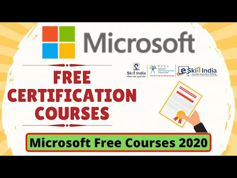 Microsoft Free Certification Courses 2020 | Microsoft Free Online ...