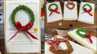 Door Cookies With Holiday Wreaths(How To)