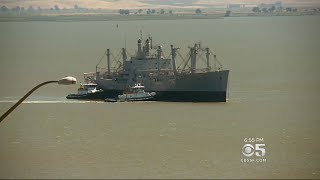 Mothball Fleet Cargo Ship Makes Final Voyage