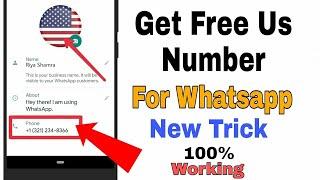 How to get free phone number for whatsapp