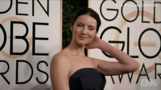 Outlander  Caitriona Balfe ~ Golden Globes 2017 Red Carpet Walk