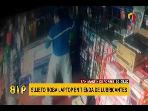SMP: sujeto roba laptop en tienda de lubricantes