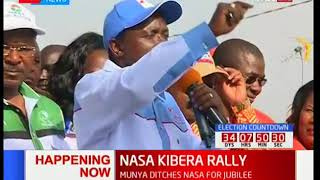 NASA co-principal Kalonzo Musyoka talks of President Uhuru Kenyatta's arrogance of the law
