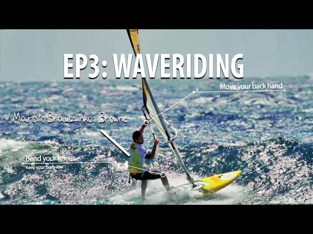 TWS Wave Technique Series - Ep 3: Waveriding tips, how to bottom and top turn, cut back windsurfing