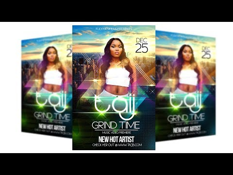 How To Make Flyers On Adobe PSD Photoshop Tutorials CC Party Event Club Graphic Design Vol 2 Mp3