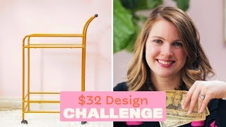 Style A Bar Cart For $32 | $32 Design Challenge | Apartment Therapy