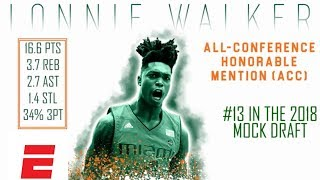 Lonnie Walker IV's 2018 NBA Draft Scouting Video | DraftExpress | ESPN