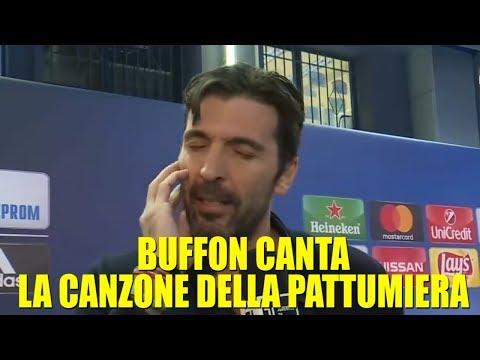 GIANLUIGI BUFFON CANTA LA CANZONE DELLA PATTUMIERA