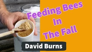 Beekeeping Feeding Bees In The Fall