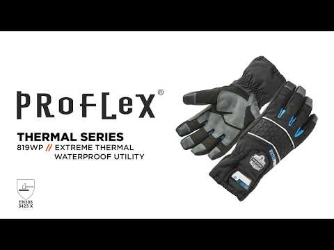 Ergodyne's 819WP Thermal Waterproof Work Gloves with Gauntlet Cuffs Keep Hands Warm and Dry