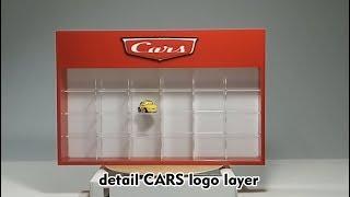 Rak display Cars Mattel Diecast Full Acrylic Isi 24 warna sesuka hati