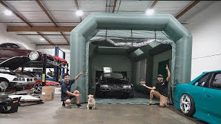 Illiminate's Inflatable Paint Booth!