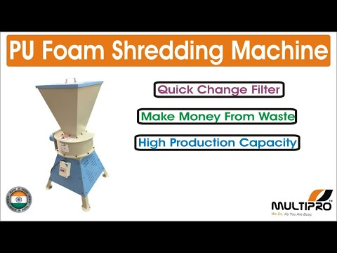 Foam Chipper Shredding / Cutting Machine 50 Kg /Hr
