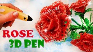 🌺 ROSE 3D PEN ✍ tutorial Big Kid DiY youtube  take and do it BiG KiD  #3dpen #bigkid #drawings3Dpen