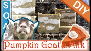 DIY Goat Milk Soap 🐐 🎃 Homemade Soap Making With Pumpkin & Kaolin Clay- How To Cook Soap At Home