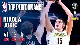 Nikola Jokic Scores CAREER-HIGH 41 Points in Win vs. Nets   November 7, 2017