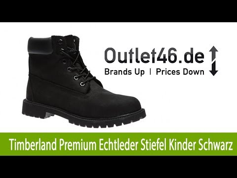 Timberland 6 Inch Premium Echtleder Stiefel Kinder Schwarz | Outlet46,de