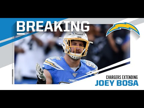 Joey Bosa Signs 5 Year, 135 Million Dollar Contract Extension With The Chargers!!