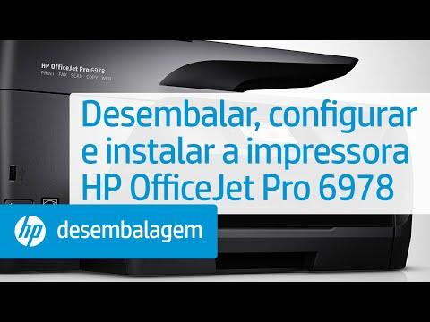 Desembalar, configurar e instalar a impressora HP OfficeJet Pro 6978