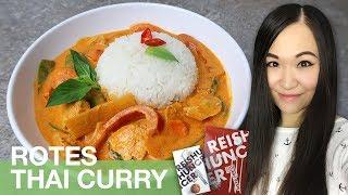 REZEPT: Rotes Thai Curry mit Hähnchen und Gemüse | thailändisch kochen