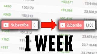 How to get 1000 Subscribers in 1 Week on YouTube