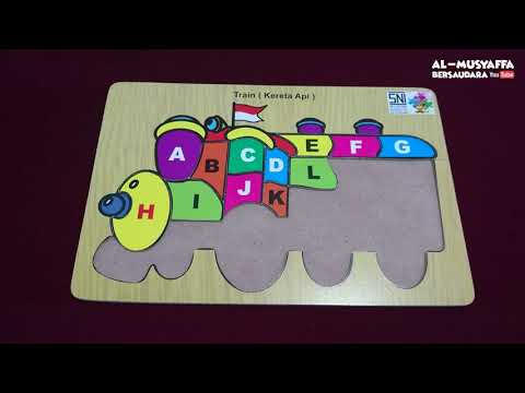BELAJAR HURUF BESAR MENGGUNAKAN PUZZLE KERETA API | Mainan Edukatif Anak | Belajar Sambil Bermain