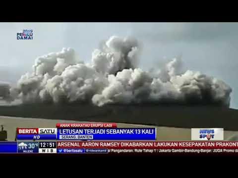 Anak Krakatau Erupsi Lagi, Hari Ini Sudah 13 Kali