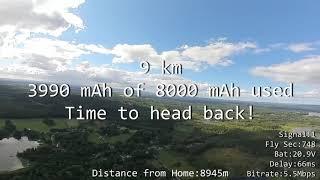9 km Long Range DJI FPV | 7 Inch Drone