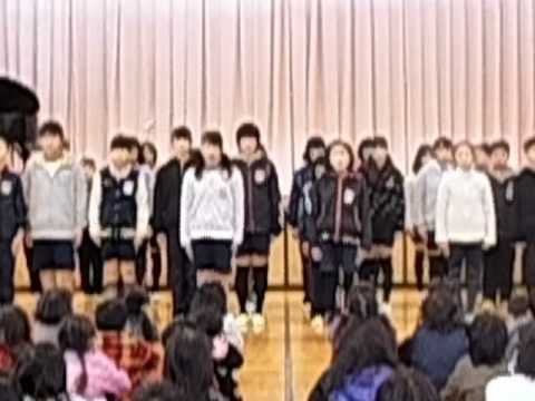 小笠北小学校6年生暗唱発表「天地の文 福沢諭吉」「生きる 谷川俊太郎」