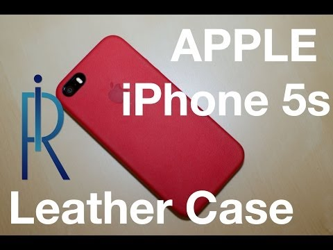 Apple iPhone 5s Leather Case (rot) REVIEW deutsch/german
