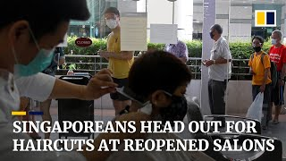 Singaporeans head to hair salons as some coronavirus measures slightly eased