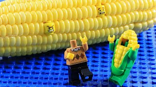 Lego Birthday Party | Special Gift Of Lego Corn Man | Lego Stop Motion Animation