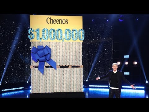 Ellen and Cheerios Celebrate One Million Acts of Good with $1 Million!
