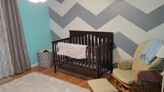 Baby Room Remodel - Chevron Zig Zag Wall