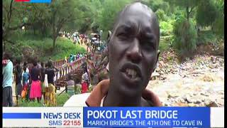 Transport burden in West Pokot after the only  bridge linking the area collapsed