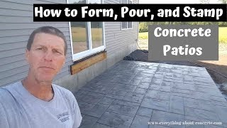 How To Form, Pour, And Stamp A Concrete Patio Slab