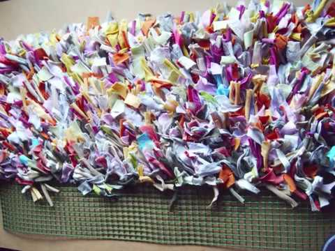 40. Manualidades: Como hacer alfombra con trapillo (Reciclaje) Ecobrisa