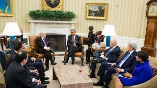 President Obama Meets With The President Of Tunisia