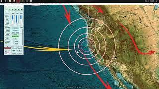 1/14/2019 -- Earthquake Update -- M5.0 to M5.5 spread across Pacific -- M4.1 California coast