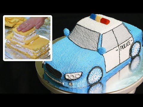 Мастер-класс приготовления торта полицейской машины