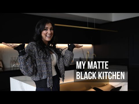 My Matte Black Kitchen | Before and After | Luxury Home Design