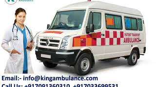 Topmost ICU Ambulance Service in Patna and Bhagalpur by King