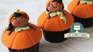 Pumpkin Girl Cupcakes For Halloween