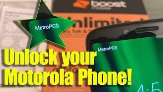 Unlock ANY Motorola Phone Moto G6 Play Boost Sprint Virgin Verizon Cricket Consumer Cellular