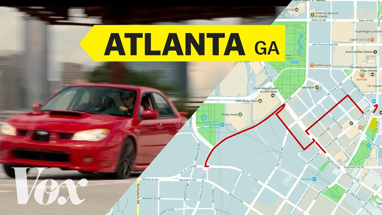Baby Driver's opening car chase, mapped thumbnail