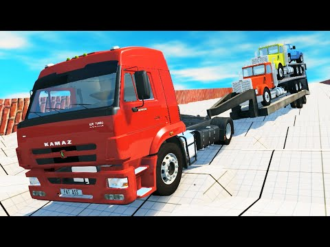 EXPERIMENT - CARS vs STEPS ROAD Crashes - BeamNG DRIVE | CrashTherapy
