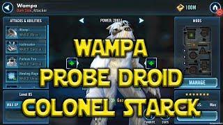 Star Wars: Galaxy Of Heroes - Wampa - Probe Droid - Colonel Starck - Kit Reveals